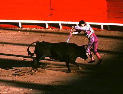 Photograph - Bullfight - Placing Banderillas by Robert  Rodvik