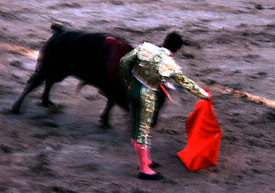 Photograph - Bullfight - Showing The Cape by Robert  Rodvik
