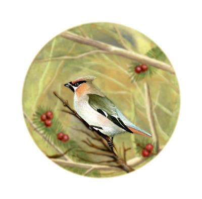 Painting - Bullfinch by Deborah Runham