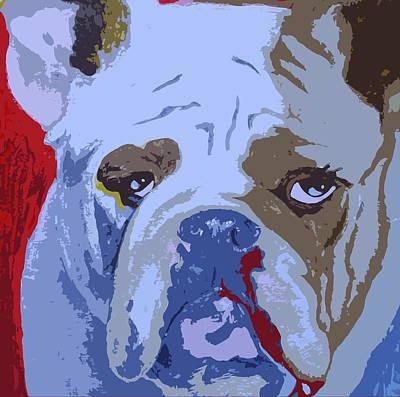 Georgia Bulldog Painting - Bullies Need Love Too by Holly Picano