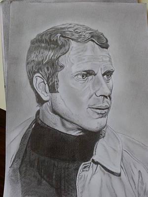 Steve Mcqueen Drawing - 'bullitt' by Paul Reeves