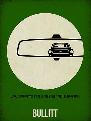 Film Digital Art - Bullitt Poster by Naxart Studio