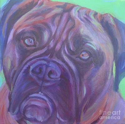 Painting - Bullmastiff by Lesley McVicar