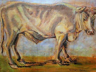 Painting - Bullock by Rosemarie Hakim