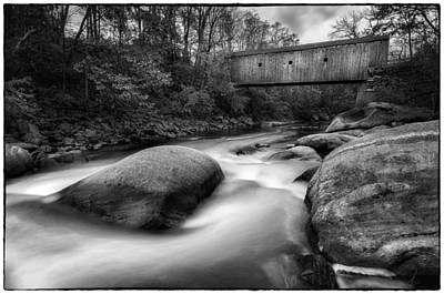 Photograph - Bulls Bridge And The Housatonic Rapids   by Expressive Landscapes Fine Art Photography by Thom