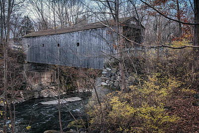 Litchfield County Photograph - Bulls Bridge Covered Bridge by Joan Carroll