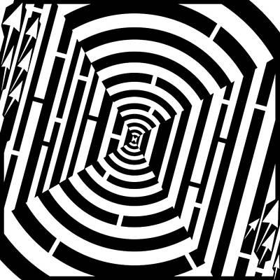 Bulls Eye Maze  Art Print