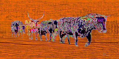 Photograph - Bulls On The Move by Amanda Smith