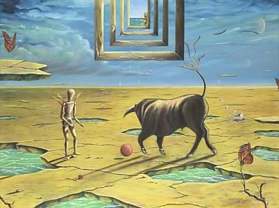 Gostanza Painting - Bull's Playground by Teresa Gostanza