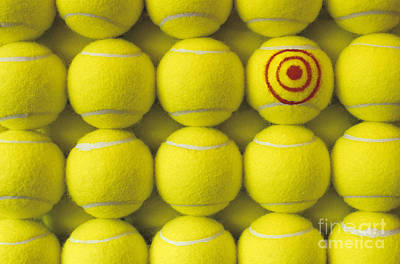 Photograph - Bullseye Tennis Balls by Jim Corwin