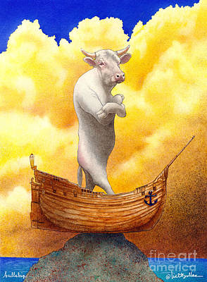 Steer Painting - Bullship... by Will Bullas