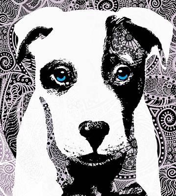 Bully Art Print by Cindy Edwards