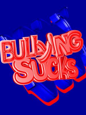 Anti-bullying Mixed Media - Bullying Sucks by Social Justice Ink
