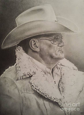 Dallas Drawing - Bum Phillips by Jeffrey McDonald