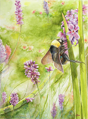 Art Print featuring the painting Bumble by Arthur Fix