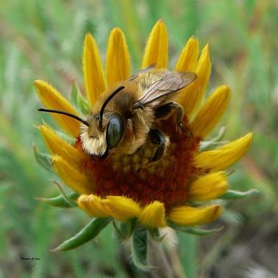 Fuzzy Digital Art - Bumble Bee Beauty by Barbara St Jean