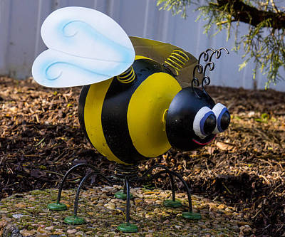 Photograph - Bumble Bee Yard Art by Ron Roberts
