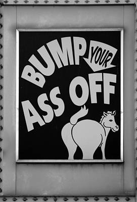 Donkey Digital Art - Bump Your Ass Off In Black And White by Rob Hans