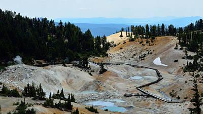 Bumpass Photograph - Bumpass Hell by Along The Trail
