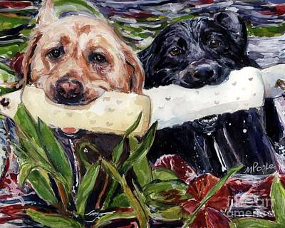 Water Retrieve Painting - Bumper Bumper by Molly Poole