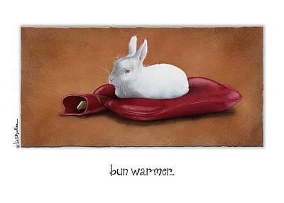 White Rabbit Painting - Bun Warmer... by Will Bullas
