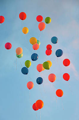 Photograph - Bunch Of Balloons Floating In Sky by Henglein And Steets