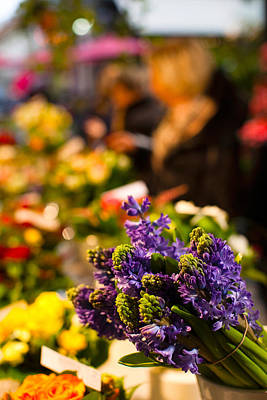 Flowers Shop Photograph - Bunch Of Flowers At A Flower Shop, Rue by Panoramic Images