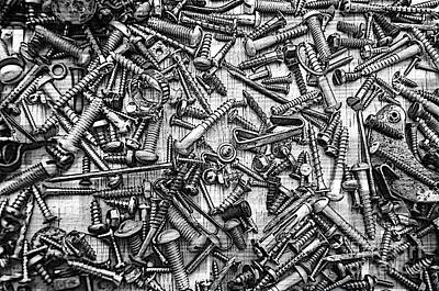 Photograph - Bunch Of Screws 3- Digital Effect by Debbie Portwood