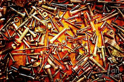 Photograph - Bunch Of Screws 4 - Digital Effect by Debbie Portwood
