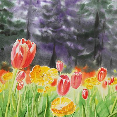 Golden Gate Park Painting - Bunch Of Tulips I by Irina Sztukowski