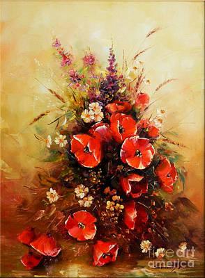 Denisa Laura Painting - Bunch Of Wildflowers by Petrica Sincu