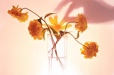 Tableware Digital Art - Bunch Of Yellow Flowers by   larisa Fedotova