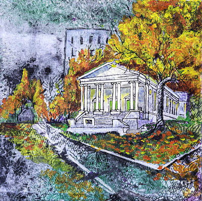 The Church Mixed Media - Buncombe Street Umc by Edith Hardaway