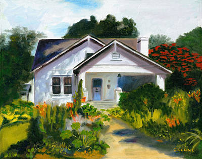 Bungalow In Sunlight Art Print
