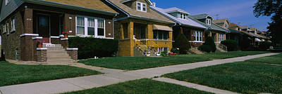 In A Row Photograph - Bungalows In A Row, Berwyn, Chicago by Panoramic Images