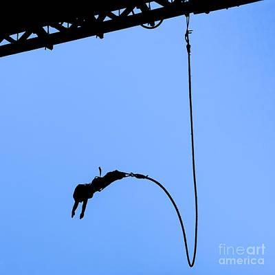Fun Patterns - Bungee jumper against blue sky by Stephan Pietzko