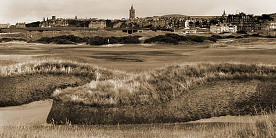 Photograph - Bunker At St. Andrews Old Course Scotland by Sally Ross