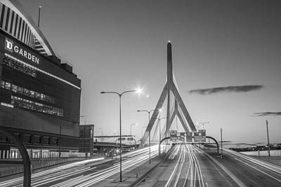 Photograph - Bunker Hill Bridge And Boston Garden by John McGraw