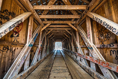 Photograph - Bunker Hill Covered Bridge 2 by Randy Scherkenbach