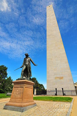 Historical Places Photograph - Bunker Hill Monument by Catherine Reusch Daley