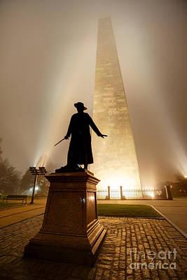 Boston Photograph - Bunker Hill Monument  by Denis Tangney Jr