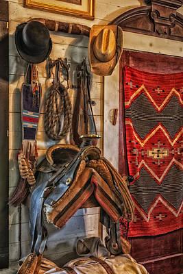 Cowboy Gear Photograph - Bunkhouse Gear - Texas by Mountain Dreams