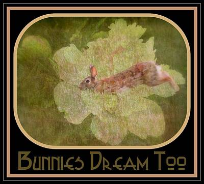 Photograph - Bunnies Dream Too by Jodie Marie Anne Richardson Traugott          aka jm-ART