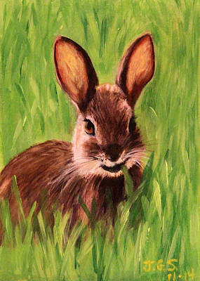 Painting - Bunny Buffet by Janet Greer Sammons