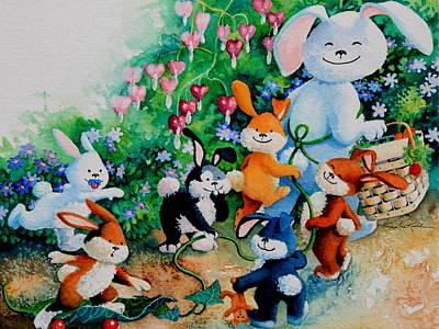 Bunny Giggles Original by Hanne Lore Koehler
