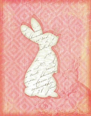 Spring Painting - Bunny by Jennifer Pugh