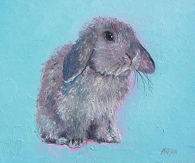 Easter Bunny Painting - Bunny Rabbit by Jan Matson