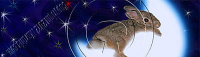 Bookmarks Wall Art - Photograph - Bunny Rabbit On Moon # 531 by Jeanette K