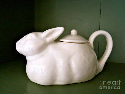 Photograph - Bunny Teapot  by Nancy Patterson
