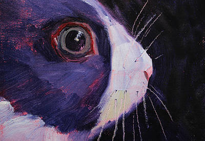 Painting - Bunny Thoughts by Nancy Merkle